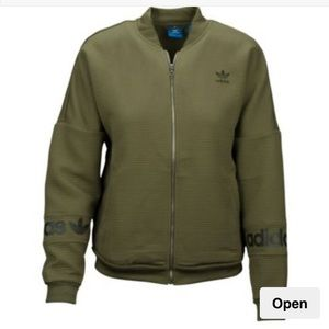 Adidas Trefoil Bomber Jacket Sz Small